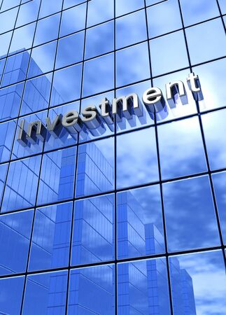 Look up 4 Investment blue Stock Photo - 18628298