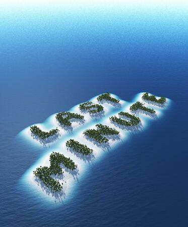 Last minute - Island Concept Stock Photo - 18628325