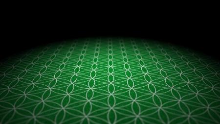 Mit Bodentextur - Flower of Life - Green Silver Standard-Bild