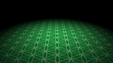 With soil texture - Flower of Life - Green Silver Stock Photo