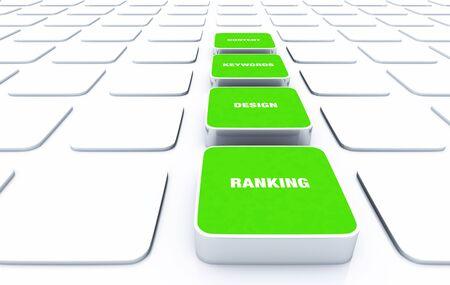 3D Designs Green - Design Content Keywords Ranking Stock Photo - 18628199