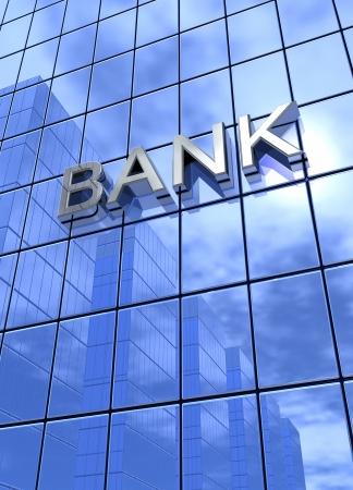 Bank Concept Silver Blue 3 vertical Stock Photo - 18628292