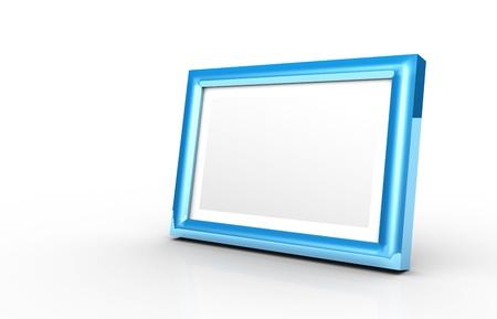 3 d: 3D - picture frame blue