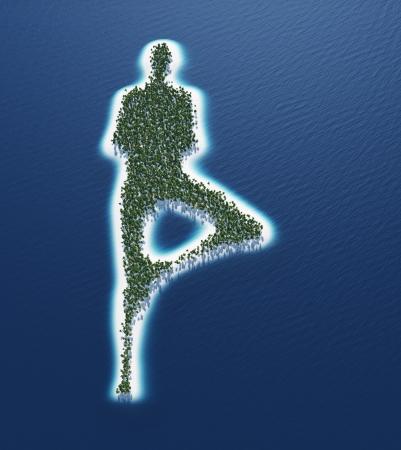 Yoga Island Concept Stock Photo - 18732627