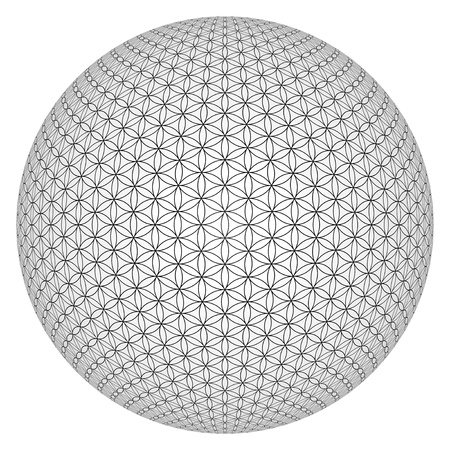 3D Ball - Flower of Life released Archivio Fotografico