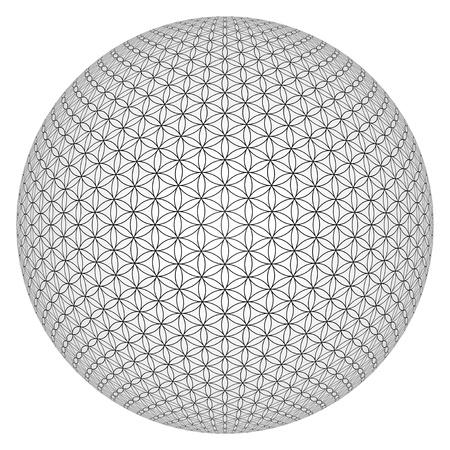 3D Ball - Flower of Life veröffentlicht Standard-Bild