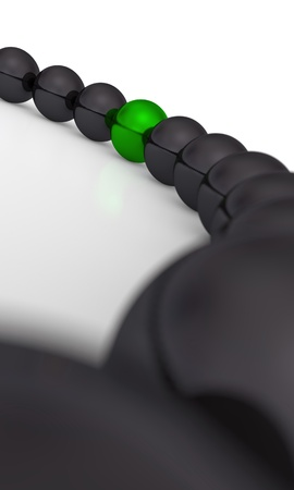 particularly: green and black - 3D ball eight focus Stock Photo