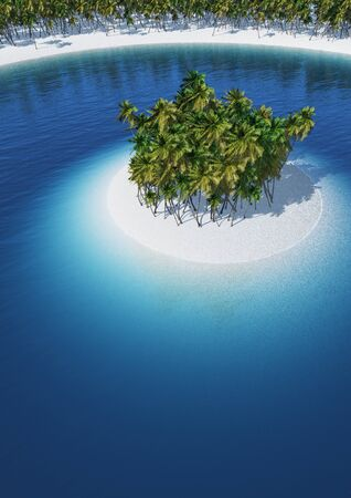 The Little Palm Island Stock Photo - 18732633