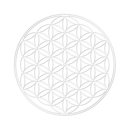 3d aum: Flower of Life with shadow Stock Photo