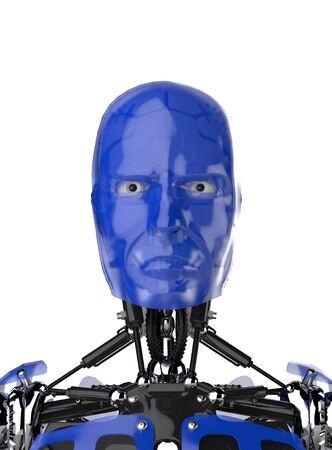 Cyborg Face - Blue Stock Photo - 18732613