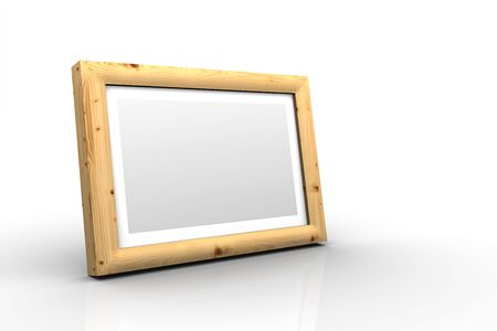 3D wooden frame - spruce branch Stock Photo - 18732603