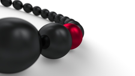 red and black - 3D ball focus Stock Photo - 18732690