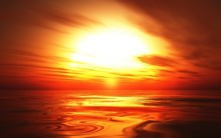 infinitely: Hot Sunset background 06