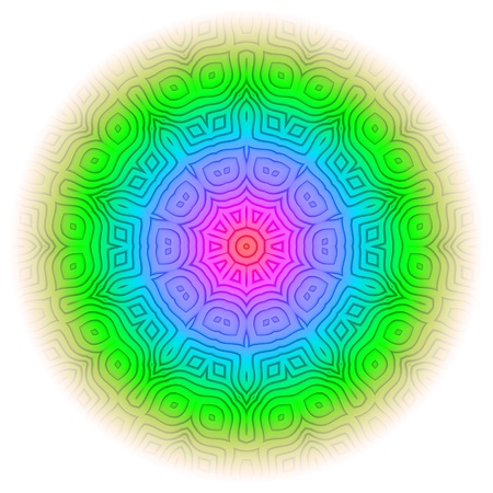 Rainbow Mandala 09 photo