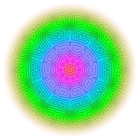 shakti: Rainbow Mandala 09 Stock Photo