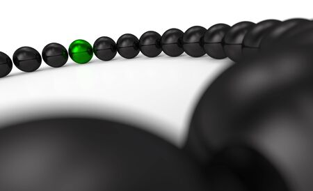 green and black - 3D ball nine focus photo