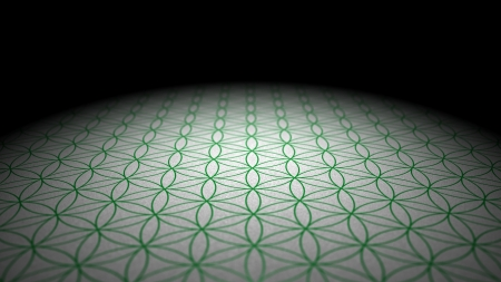 shanti: texture - Flower of Life - Silver Green Stock Photo