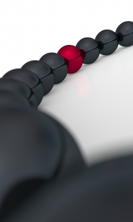share icon: red and black - 3D ball six focus