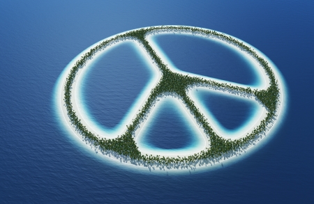 3d aum: Peace sign - Island Concept 1