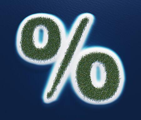 Big percent - island concept in plan photo