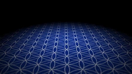 With soil texture - Flower of Life - Blue Silver Stock Photo