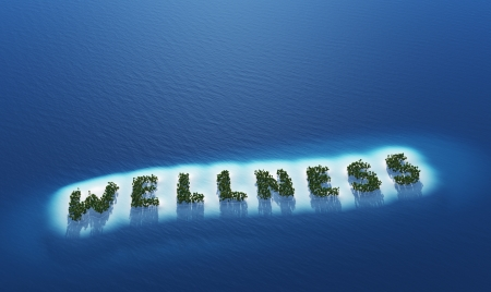 Wellness - Island concept Stock Photo