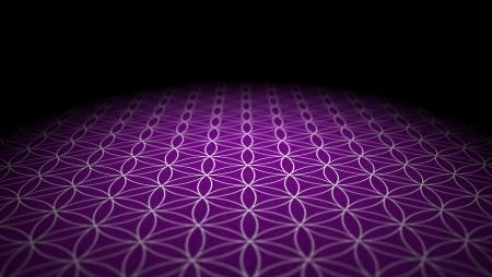 Boden mit Textur - Blume des Lebens - Silber Lila Standard-Bild
