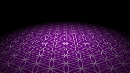 sacred: Soil with texture - Flower of Life - Purple Silver Stock Photo