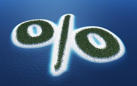 chillout: Percent - Island Concept 2 Stock Photo