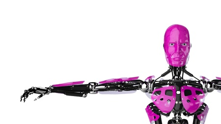 d data: Pink Robot Stock Photo