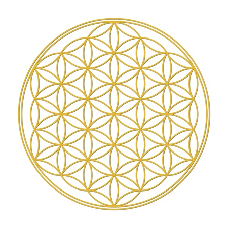 Blume des Lebens - gold Lizenzfreie Bilder