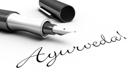integral: Ayurveda - pen concept Stock Photo