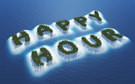 Happy Hour - Island Concept 1 Stock Photo