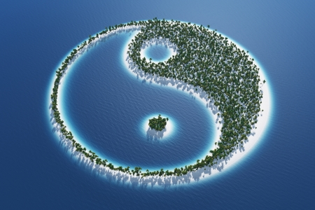 Yin and Yang - Island Concept 3 Stock Photo - 19890649