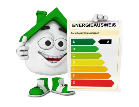 Kleines Haus 3d Grün - Energy Performance Certificate Concept 2 Standard-Bild - 19903902