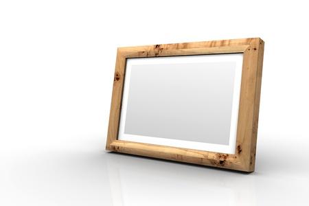 poplar: Wooden picture frame - Poplar Stock Photo