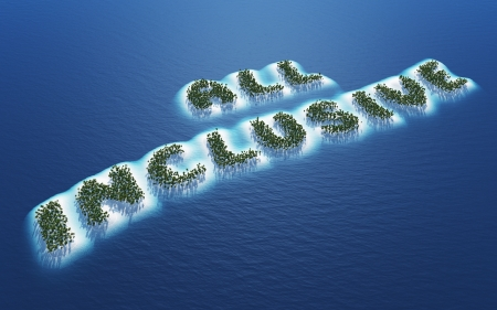 inclusive: All Inclusive - Island Concept 1 Stock Photo