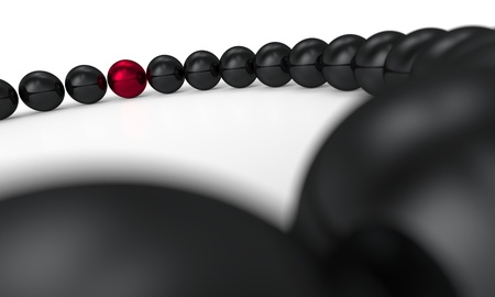 red and black - 3D ball 11 focus Stock Photo - 20333429