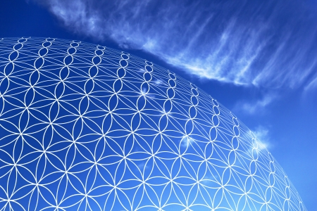 Flower of Life in the sky 03 Stock Photo