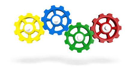 Colorful cogwheels of - Green n Red Blue Yellow 6