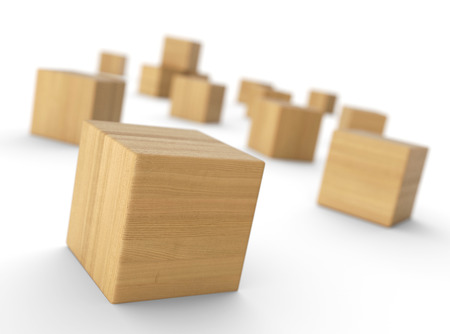 distributed: Distributed wood blocks 3