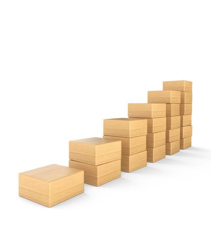 Upward trend in wood blocks 1