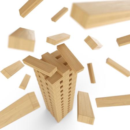juguetes de madera: Torre de madera de los bloques en movimiento 2