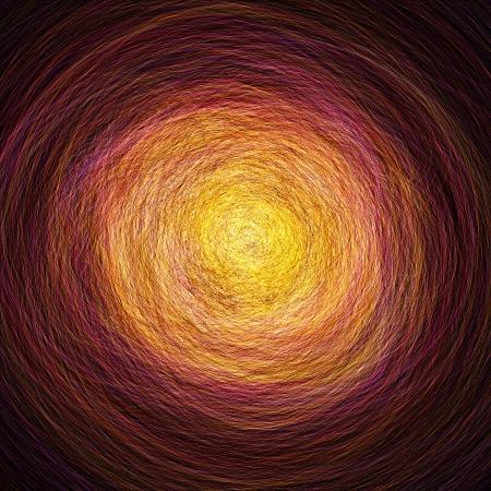 Abstract tunnel of reincarnation - Orange Red Standard-Bild