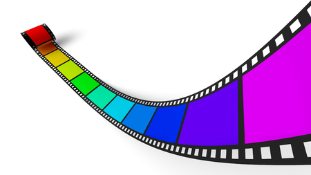 3D Rainbow Filmstrip 1 photo