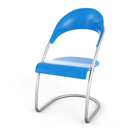 Visitors Chair Blue in 3D Stock Photo - 25681157