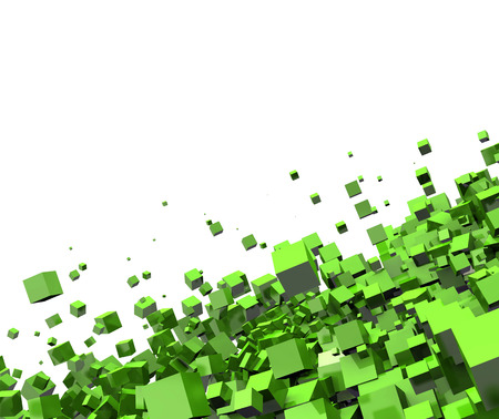 cube green background photo