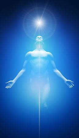 光の青と白の変換 写真素材