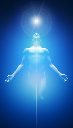 Transformation bleu clair et blanc Banque d'images