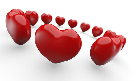 3D red heart in circle 1 photo